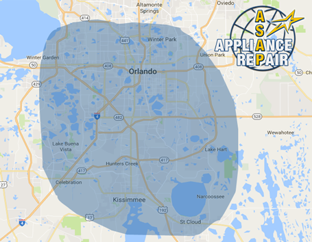 ASAPpliance Repair Orlando Service Area
